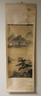 Vintage Chinese Hand Painting On Silk Scroll