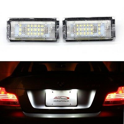 BMW 3 Series E46 Saloon Estate Canbus LED License Number Plate Light 1998-2005