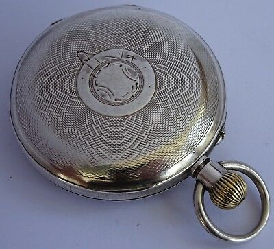 Antique solid sterling silver pocket watch in running order