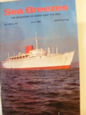 July 1980 SEA BREEZES MAGAZINE of Ships and the Sea, Vol.54 No.415.