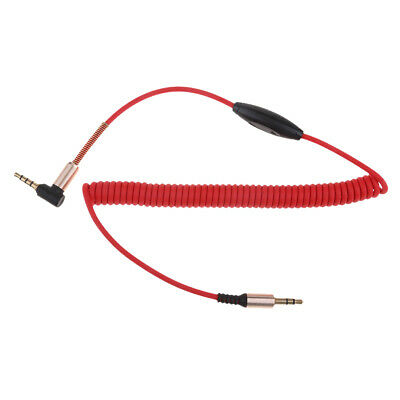 3.5mm Auxiliary Audio Male to Male Cable 90 Degree With Mic for Phone Car