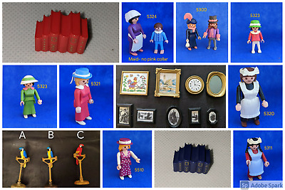 Playmobil Victorian Mansion 5300 5301 5305  FURNITURE PEOPLE ~choose~ LL post