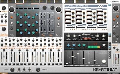 New Softube Heartbeat Drum Synth Plug-In Virtual Instrument Mac PC VST AU AAX