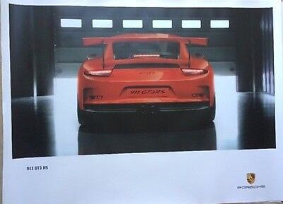 "PORSCHE OFFICIAL 911 GT3 RS SHOWROOM POSTER 30""x 40"" Authentic"