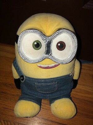 Build A Bear Teddy Minion BABW Pumpkin Plush Stuffed Animal Bob Despicable  Me