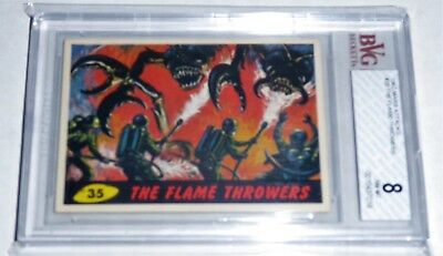 1962 Mars Attacks The Flame Throwers # 35 NM-MT BVG BGS 8 Like PSA UFO Aliens