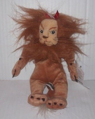 "COWARDLY LION Wizard Of Oz Beanbag Plush 9"" Warner Brothers Studio Store NEW NWT"