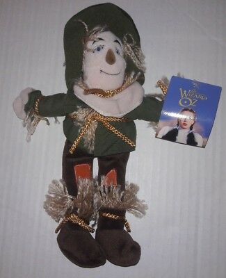 "SCARECROW Wizard Of Oz Beanbag Plush 10"" Warner Brothers Studio Store NEW NWT"