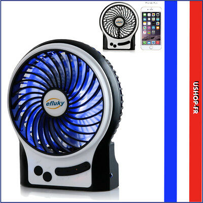 efluky Mini Ventilateur Ventilateurs de Table Ventilateur USB Ventilateur Rechar