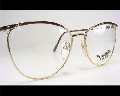 Vintage Classic Womens Wire Rim Brown /& Gold Fancy Eyeglass Frame 1980/'s NOS 55