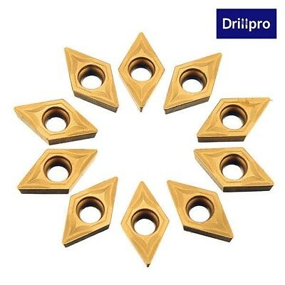 10pcs DCMT070204 Carbide Inserts DCMT0702 Carbide Cutter For Turning Tool Holder