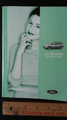 2003 FORD Windstar - Original Owner's Manual Guide