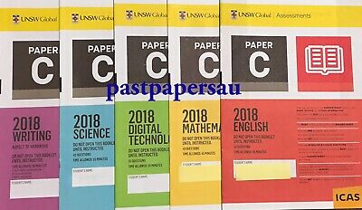 ICAS Year 5 (C) Past Papers lot - All subjects ~ with 2018 papers