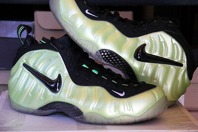 2011 Rare Ds Nike Air Foamposite Pro Electric Green Mens Sz 10.5 - (624041-300)