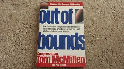 Tom Mcmillen Out Of Bounds Baltimore Bullets Md Nba  Autograph Signed Book