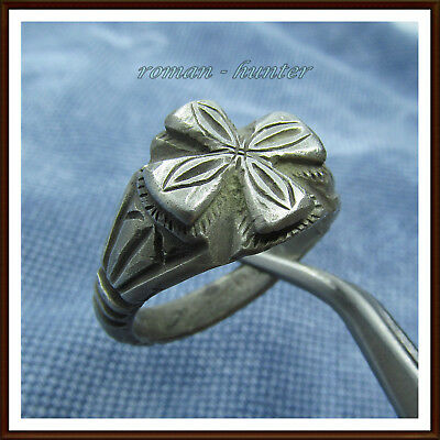 >> Cross <<Ancient Silver Byzantine Ring !!!