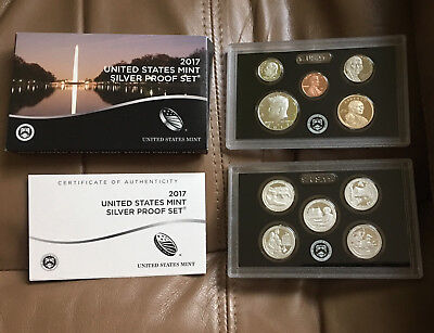 2017 S United States Mint Silver Proof Set - All Mint Packaging
