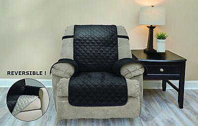 Reversible Chocolate Beige Recliner Protector Fits 20