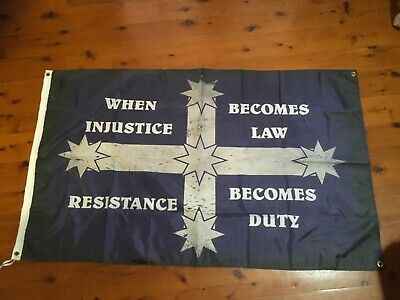 NEW WHITE Southern cross Aussie flag vlad outlaw biker bar  man cave eureka flag