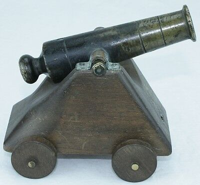 Antique Bronze Naval Black Powder Salute Signal Canon VERY Old - FREE SHIPPING