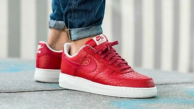 Nike Air Force 1 07 LV8 Action Red Mens Shoes Sneakers 718152 606 Multiple  Sizes 1149cfed1