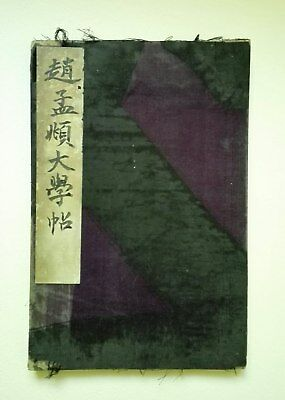 Antique Chinese Calligraphy Ink Rubbing Painting Album19 C Qing Dynasty 32 Pages