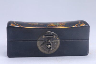 Collectibles Vintage painted flower & bird Wooden Jewelry box  ac405