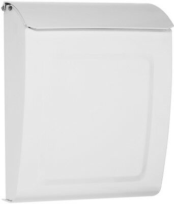 Architectural Mailboxes Aspen 9-in W x 11.2-in H Metal White Lockable Wall