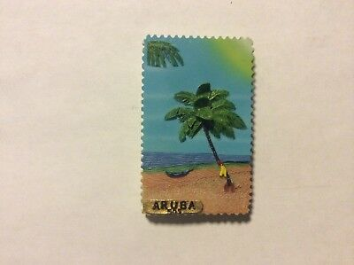 Aruba Caribbean Island Travel Souvenir Colorful Risen Fridge Magnet