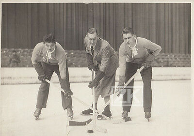HOCKEY SUR GLACE Vel' d'Hiv Jeff DICKSON André ROANNE Cinema Sport Photo 1930s