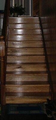 Lacquered Maple Timber Stairs 2000H x 800W, 12 risers & 10 treads similar to pic