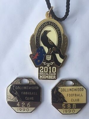 1990 & 2010 Collingwood Football Club Medallions - Last Two Premierships!!