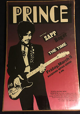 PRINCE RARE TOUR Poster with Zapp & The Time - $199.95   PicClick
