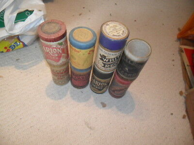 8 various  phonograph cylinder empty boxes