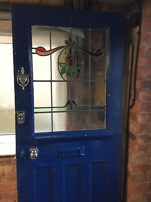 Period door original gorgeous stained glass