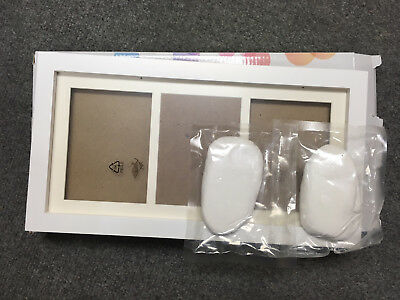 Baby Hand and Footprint Picture Frame Kit - Memorable Keepsakes Gift for NewBorn