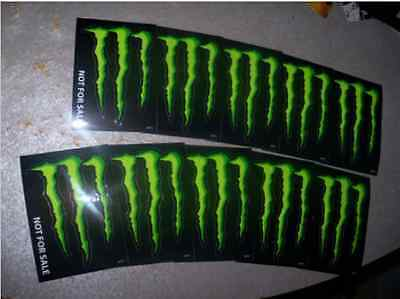 "Monster Energy Drink DECAL STICKER ""4 x 3 inches"" Lot of 10"