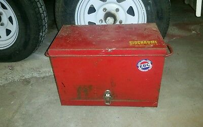 Small Australian Sidchrome Toolbox On Wheels Vintage Unusual