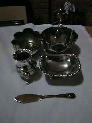 Silver plate items and Stainless Steel