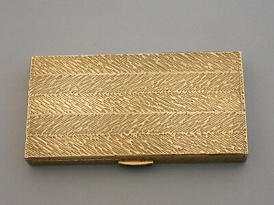 9 Carat Gold & Sapphire Card Case.  London 1969.  87.5 grams in weight
