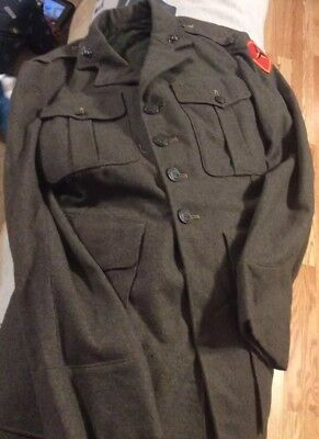 Wwii Usmc Uniform 2nd/3rd/4th Marine Division Vet with Full Digital Service File