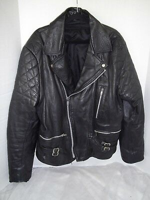 mens  motorcycle leather jacket chest 40 inch make echtes leder
