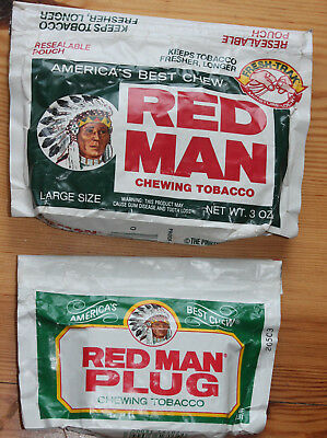 native american - Alter Kautabak chewing tabacco - RED MAN - tolle Verpackung