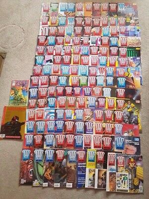 Huge 2000AD Comic Bundle 139x Issues/Progs Judge Dread Rogue Trooper