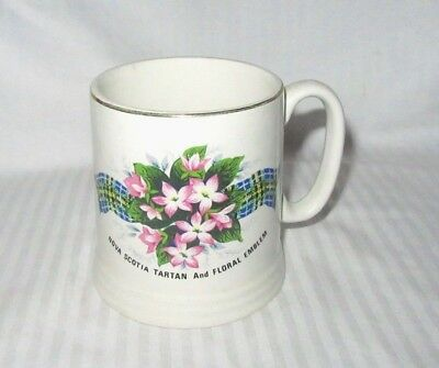Nova Scotia Tartan and Floral Emblem Cup - Vintage Lord Nelson Pottery, England