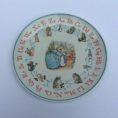 BEATRIX POTTER PETER RABBIT ALPHABET PLATE Signed By Lord Wedgewood 1998