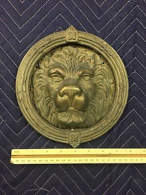 "Antique~ Brass Lion Head Door Knocker 8"" Roughly"