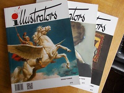 ILLUSTRATORS Magazine First Three Editions #1/#2/#3 2012/13 Excellent