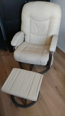 Kiddi Couture Rocking Nursing Chair and Foot Stool in Cream