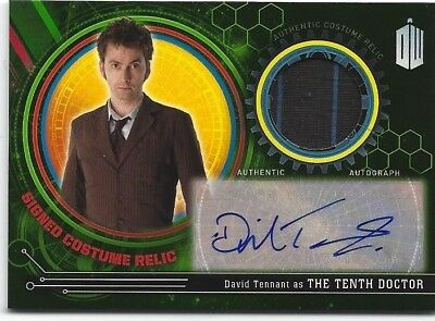 DOCTOR DR WHO DAVID TENNANT TENTH DOCTOR AUTOGRAPHED relic COSTUME CARD 1/5 RARE